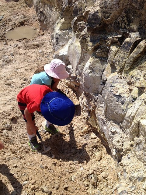 Our kids digging Oregon thundereggs at Richarson Rock Ranch