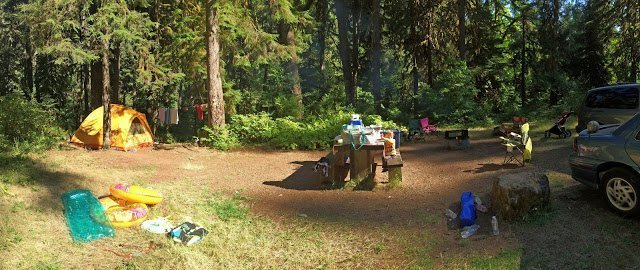 Camping with kids at Puma Campground, Oregon