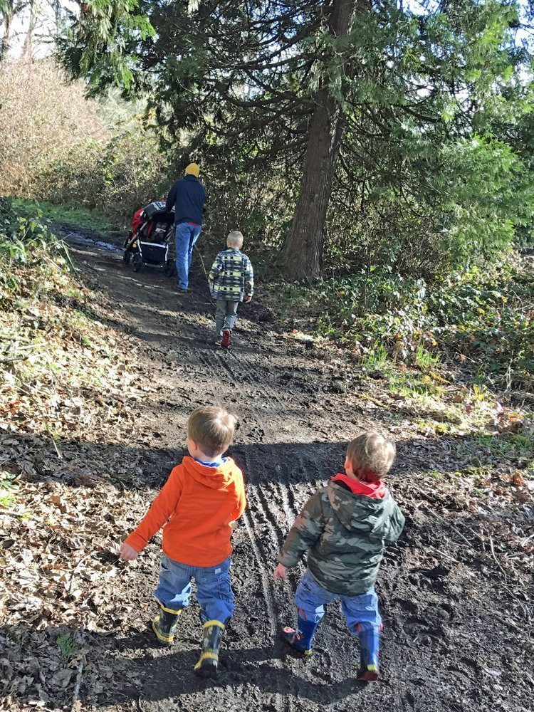 Kid-friendly hike with stroller